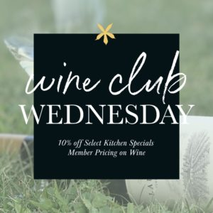 Wine Club Wednesday Event Photo